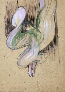Study for Loie Fuller at the Folies Bergeres, 1893 by Henri de Toulouse-Lautrec