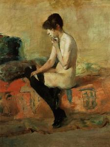 Study of a Female Nude on a Couch by Henri de Toulouse-Lautrec
