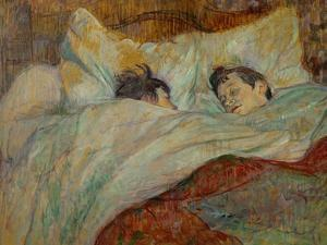 The Bed (Le Lit), 1892 by Henri de Toulouse-Lautrec