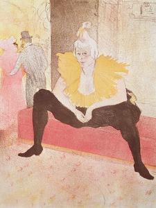 The Clowness Cha-U-Kao Seated, 1896 by Henri de Toulouse-Lautrec