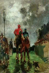 The Jockeys by Henri de Toulouse-Lautrec