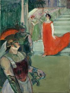 The Opera 'Messalina' at Bordeaux (Messaline Descend L'Escalier Bordé De Figurants), 1900-1901 by Henri de Toulouse-Lautrec