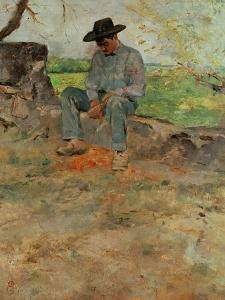 The Young Routy, a Farmboy Who Worked at the Family's Estate in Celeyran, 1883 by Henri de Toulouse-Lautrec