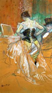 Woman in a Corset by Henri de Toulouse-Lautrec