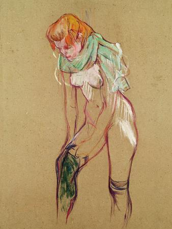 Woman Pulling up Her Stocking, 1894