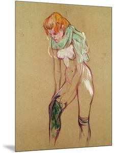 Woman Pulling up Her Stocking, 1894 by Henri de Toulouse-Lautrec