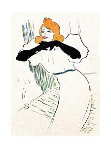 Yvette Guilbert, Lautrec by Henri de Toulouse-Lautrec