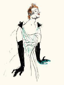 Yvette Guilbert by Henri de Toulouse-Lautrec