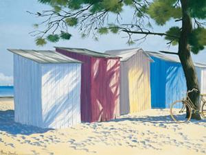 Beach Shacks I by Henri Deuil