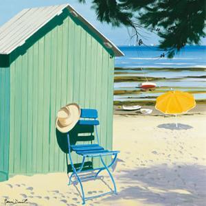 Lime Beach Shack by Henri Deuil