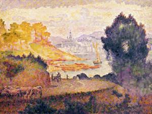 Aussicht auf Menton. Vue de Menton. 1899-1900 by Henri Edmond Cross