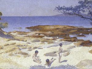 Beach at Cabasson (Baigne-Cul), 1891-92 by Henri-Edmond Cross