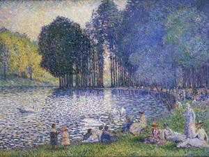 Der See im Bois de Bologne. Le Lac du Bois de Boulogne. 1899 by Henri Edmond Cross