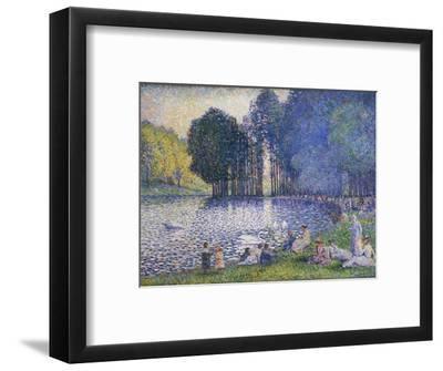 Der See im Bois de Bologne. Le Lac du Bois de Boulogne. 1899