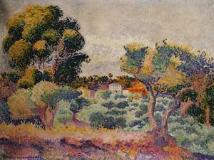 Eukalyptus und Olivenhain. 1907 by Henri Edmond Cross