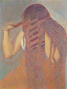 La chevelure (The Head of Hair),Henri-Edmond Cross, 1892. Musee d'Orsay, Paris, France by Henri Edmond Cross