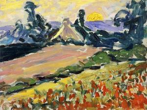 Landschaft bei Sonnenuntergang (Paysage au Coucher du Soleil) by Henri Edmond Cross
