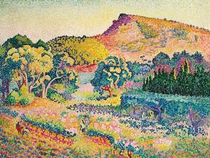 Landschaft mit Le Cap Nègre. Paysage avec le cap Nègre. 1906 by Henri Edmond Cross