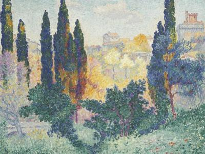 Les cyprès à Cagnes by Henri Edmond Cross
