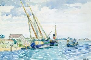 Marine Scene (Boats near Venice), 1903 by Henri-Edmond Cross