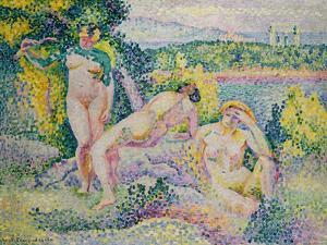 Nymphes. 1906 by Henri Edmond Cross