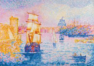 Port de Marseille. Ca. 1899 by Henri Edmond Cross