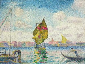 Segelboote auf dem Giudecca oder Venedig, Marine. 1903-1905 by Henri Edmond Cross