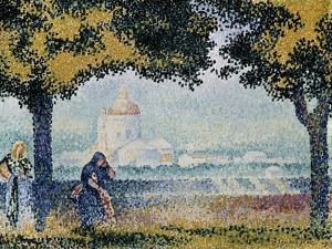 The Church of Santa Maria Degli Angeli Near Assisi, 1909 by Henri Edmond Cross