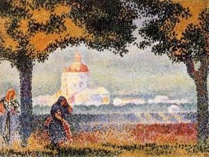 The Church of Santa Maria Degli Angely Near Assisi, 1909 by Henri Edmond Cross