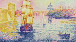 The Port of Marseilles, circa 1909 by Henri Edmond Cross