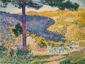 Valley with Fir (Shade on the Mountain), 1909 by Henri-Edmond Cross