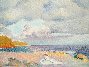 Vor dem Sturm (Die Badende). Avant l'Orage (La Baigneuse). 1907-1908 by Henri Edmond Cross