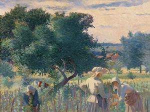 Women Tying the Vines by Henri Edmond Cross