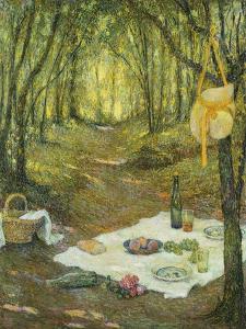 Le Gouter Sous Bois, Gerberoy, 1925 by Henri Eugene Augustin Le Sidaner