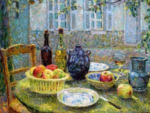 Pierre's Table, 1920 by Henri Eugene Augustin Le Sidaner