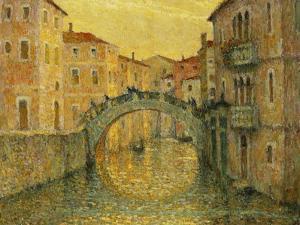 The Morning Sun, Venice by Henri Eugene Augustin Le Sidaner