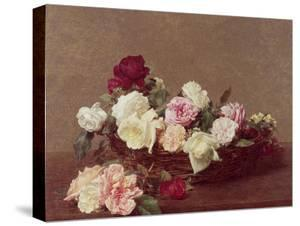 A Basket of Roses, 1890 by Henri Fantin-Latour