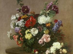 A Bouquet of Mixed Flowers, 1881 by Henri Fantin-Latour