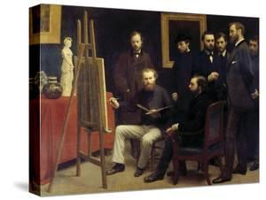 A Studio at Batignolles (Homage to Manet) by Henri Fantin-Latour