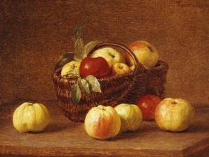 Apples in a Basket on a Table by Henri Fantin-Latour