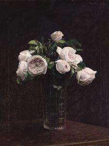 Blush Roses in a Glass, C.1860-1900 by Henri Fantin-Latour