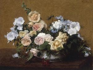 Bouquet de Roses et d'autres Fleurs, 1889 by Henri Fantin-Latour