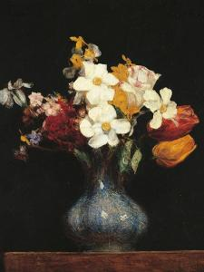 Daffodils and Tulips by Henri Fantin-Latour