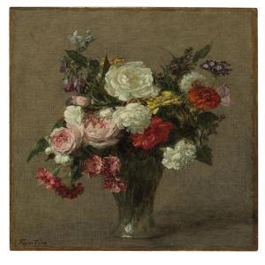 Flower Bouquet, 1900 by Henri Fantin-Latour
