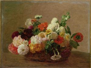 Flower Still Life by Henri Fantin-Latour