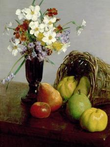 Fruits and Flowers, 1866 by Henri Fantin-Latour