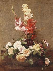 Gladioli and Roses, 1881 by Henri Fantin-Latour