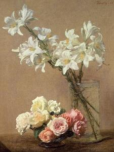 Lilies in a Vase, 1888 by Henri Fantin-Latour