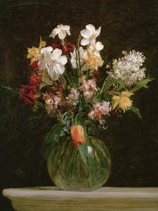 Narcisses Blancs, Jacinthes et Tulipes, 1864 by Henri Fantin-Latour