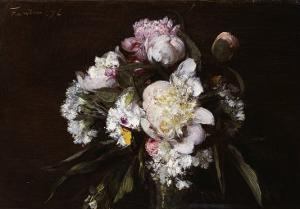 Peonies, White Carnations and Roses, 1874 by Henri Fantin-Latour